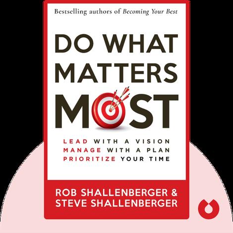 Do What Matters Most von Rob Shallenberger, Steve Shallenberger